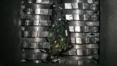 Hard drive shredder Stock Footage