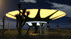 UFO and Aliens - stock footage