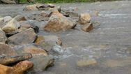 Stock Video Footage of River flowing over stones