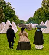 Civil war camp Stock Photos