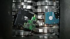 Hard drives destruction Stock Footage
