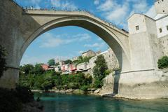 Stock Photo of The Old Bridge in Mostar, Bosnia and Herzegovina