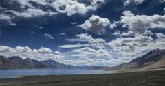 Pangong lake high view Ladakh time lapse 4k Stock Footage