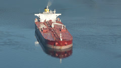 Anchored Oil Tanker Stock Footage