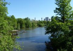 waterside scenery in new york - stock photo