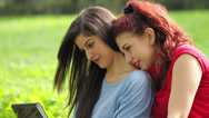 Lovely lesbian couple, hugs together on outdoor, sunny day Stock Footage