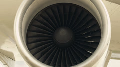 HD Jet engine of an airplane Stock Footage