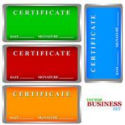 Certificates set Stock Illustration