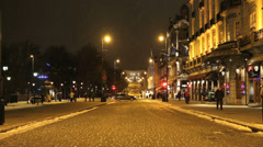 Main street in City of Oslo Stock Footage