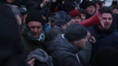 Strike Ukrainassa - uusi aalto: real taistelee poliisi! Arkistovideo