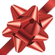 red bow - stock illustration