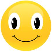 Yellow smiley Stock Illustration