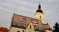 St. Mark Church in Zagreb Arkistovideo
