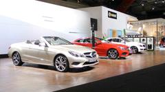 Mercedes Benz E-Class convertible Stock Footage