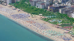 Cleopatra Beach in Alanya, Turkey, high angle view Stock Footage