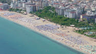Stock Video Footage of Famous Cleopatra Beach in Alanya, Turkey, high angle view