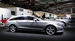 Mercedes Benz CLS hooting Brake Stock Footage