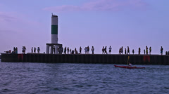 Harbor entrance 4K Stock Footage