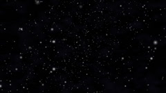 Stars and cosmic fog in space Stock Footage