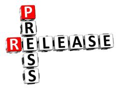 3d press release crossword Stock Illustration