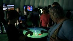Reactable performance. Dj turntable sound effects Stock Footage