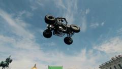 FMX show - Jumps on the ATV Stock Footage