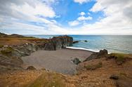 Stock Photo of sea coastline of east iceland