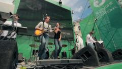 Rock group concert Stock Footage
