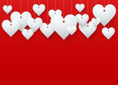 Background beautiful red heart. Stock Illustration