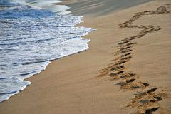 Stock Photo of footprints in the sand
