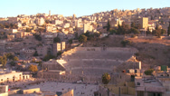 Stock Video Footage of A Roman amphitheater in downtown Amman, Jordan.