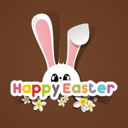 Stock Illustration of Happy Easter Greeting Card