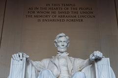 The statue of Abraham Lincoln. Stock Photos