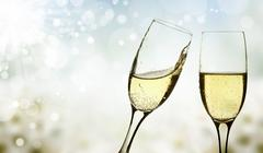glasses of champagne - stock illustration