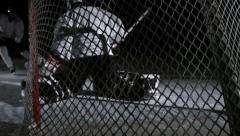 Team Sport - Ice Hockey - Shot from behind the net. Stock Footage