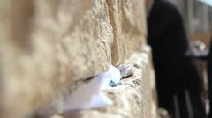 Wailing Wall : Western Wall in Jerusalem - stock footage