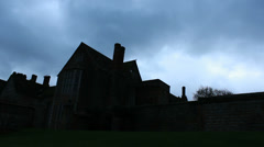 Manor House timelapse (wider shot) - stock footage