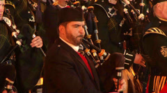 Scottish Pipe Band Stock Footage