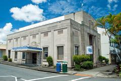 pacific tsunami museum in hilo big island hawaii - stock photo