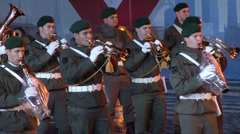 Military orchestra - stock footage