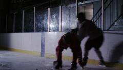 Team Sport - Ice Hockey - Aggressive hit Stock Footage
