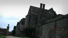 Littlecote House, tilt zoom Stock Footage