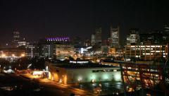 Boston Night City Skyline Stock Footage