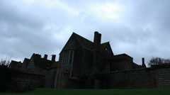 Littlecote House & bird in sky Stock Footage