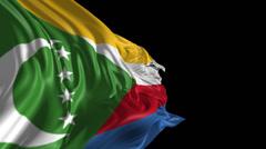 Flag of Comoros Stock Footage