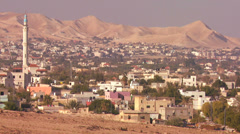 The city of Jericho in the Palestinian Territories of Israel. Stock Footage