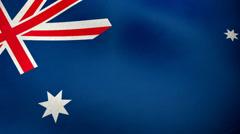 Australian flag waving background loop Stock Footage