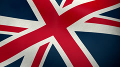 British flag waving background loop Stock Footage