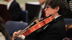 Children orchestra - stock footage