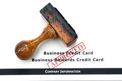 Business credit card - approved Stock Photos